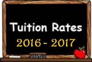 201604 Tuition Rates 2016 - 2017